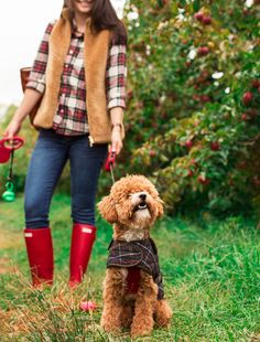 My friends and I went apple picking with our dogs last week to celebrate the beginning of fall! We accidentally coordinated perfectly with our outfits! Barbour Coats, Date Outfits, Fashion Outfits, Apple Picking Outfit, Farm Clothes, Apple Dress, Cold Weather Outfits, Dress Codes, Everyday Fashion