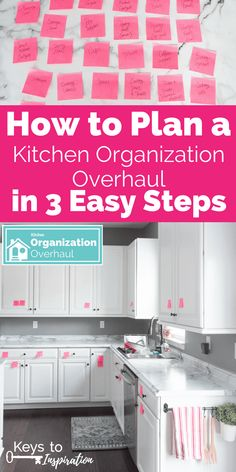 How to Plan a Kitchen Organization Overhaul in 3 Easy Steps How to plan a kitchen organization overhaul. Get your kitchen organized by first making a solid plan. Use this sticky note hack to figure out where everything should go. - Gray N Black Organize K Kitchen Cupboard Organization, Kitchen Cabinet Layout, Kitchen Cupboards, Diy Kitchen, Kitchen Decor, Kitchen Ideas, Kitchen Tips, How To Organise Kitchen Cabinets, Kitchen Storage