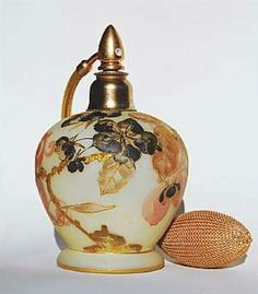 Crown milano art glass perfume bottle atomizer ca1893