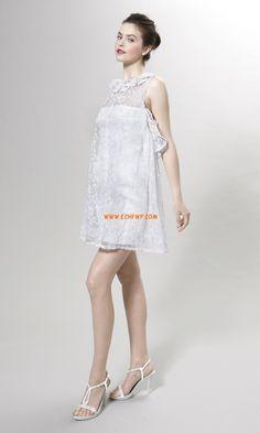 Jaro 2014 Léto S hlubokým výstřihem na zádech Levné svatební šaty
