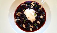 Blue Berry Pudding made of Blackberries and Blueberries.
