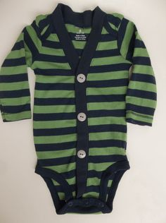 Baby+Boy+Cardigan++Green+and+Navy+Stripe+for+a+by+groovyapplique,+$22.00