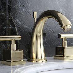 Claremont Widespread Bathroom Faucet with Brass Pop-Up Drain Widespread Bathroom Faucet, Bathroom Faucets, Kingston Brass, Ada Compliant, Pop Up, Home Improvement, Sink, Home Decor, Bath Taps