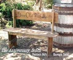 WEDDING / ANNIVERSARY Park Bench  Very by OLDGLORYWOODCRAFTS, $199.95