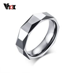 Vnox Tungsten Carbide Wedding Rings for Men Exclusive Rhombus Rings Engagement Male Jewelry Fashion Bracelets, Fashion Rings, Fashion Jewelry, Men Fashion, Fast Fashion, Style Fashion, Wedding Ring Styles, Wedding Bands, Black Gold Jewelry