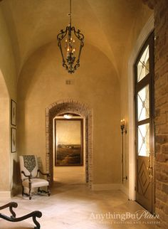 Diamond Plaster Walls and Ceiling Entry - entry - houston - Anything But Plain, Inc.
