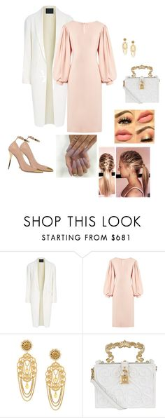 """""""Untitled #320"""" by lolapaluzza ❤ liked on Polyvore featuring Alexander Wang, Osman, Dolce&Gabbana and Balmain"""