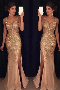 Luxurious Mermaid V-neck Sequin Gold Long Prom Dresses V-neck Prom Dresses Sequin Prom Dresses Sleeveless Prom Dresses Prom Dresses Mermaid Prom Dresses Prom Dresses Long Sequin Prom Dresses, V Neck Prom Dresses, Prom Dresses 2018, Mermaid Evening Dresses, Prom Dresses Online, Cheap Prom Dresses, Tulle Dress, Bridesmaid Dresses, Evening Gowns