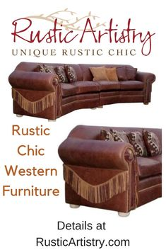 Rustic Chic Western Furniture - Sturdy enough for a rough cowboy. Stylish enough for the most fashionable cowgirl. And versatile enough that even if you've never been on a horse, the western furniture and decor collection can work for you.