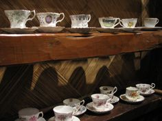 A large assortment of lovely china tea cups