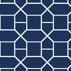 Navy Nautical Chain fabric