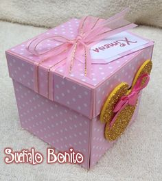 Invitaciones 3 años Niña Pink and Gold Minnie Mouse