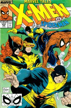 Spider Man and the X-Men by Todd MacFarlane - I love Jean on this cover beautiful