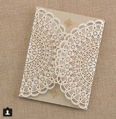 Love these lace invites!