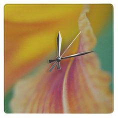 'Lily Abstract'' Wall Clock #decor #interior #abstract