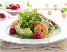 Garnelen-Avocado-Salat mit Himbeeren