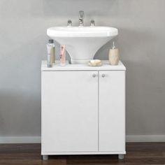 Balcão de Banheiro para Pia com 2 Portas e 6 nichos internos - Acabamento BP - Branco com as melhores condições você encontra no site do Magazine Luiza. Confira!