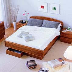we bought this bed, but not from this site coz they told us it would take mos. just what we wanted. did not purchase the matchy matchy night stands. Contemporary Living Room Furniture, Contemporary Bedroom, Bedroom Furniture, Modern Contemporary, Modern Recliner, Scandinavian Bedroom, Queen Beds, Master Bedroom, Home Decor