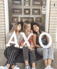 letters and sisters Sorority Rush, Sorority Life, Bid Day Themes, Go Greek, Alpha Chi Omega, Delta Zeta, Phi Mu, Fraternity, School Fun