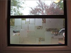 Bathroom Privacy Window found out that you can make your own privacy film type window