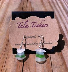 Genuine Sea Glass Sterling Silver Earrings by TulaTinkers on Etsy, $15.00