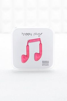 Happy Plugs Headphones in Hot Pink - Urban Outfitters
