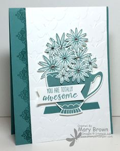 Cups and Kettles Framelits, Blossom Bunch Punch, Butterfly Embossing Folder, Basic Rhinestones, Dimensionals