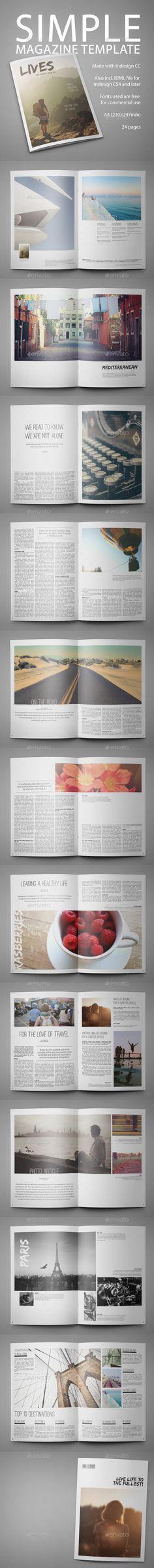 Beautiful magazine design template