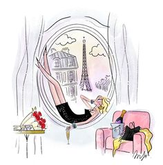 Illustration Parisienne, Paris Illustration, Cute Illustration, Girl Illustrations, Quiet Storm, Bee Bop, Me And My Dog, Paris Art, Female Character Design
