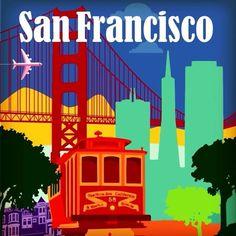 Golden Gate köprüsü, bol yokuşlu ve eğlenceli sokakları, devasa yapıları, renkli gece hayatı ile San Francisco görülmeye değer! #Maximiles #SanFrancisco #ArtDeco #vintage #poster #travel #city #postcard #holiday #vacation #seyahat #tatil #şehir #kartpostal #gezi #ÖzgürceUç #DünyaSizin #OnuİyiKullanın #ŞehirPosterleri #instagood #picoftheday #instacity San Francisco, Broadway Shows, Art Deco, Instagram Posts, Movies, Movie Posters, Films, Broadway Plays, Film Poster