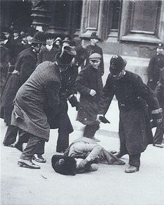 his is a photo of Susan B. Anthony trying to vote in 1872, when it was illegal for a woman to vote in America. She was beaten and arrested for trying to do something we all take for granted today.
