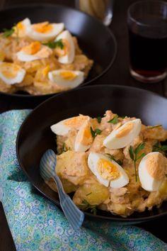Ensalada de patata y atún - Cocinando Sabores