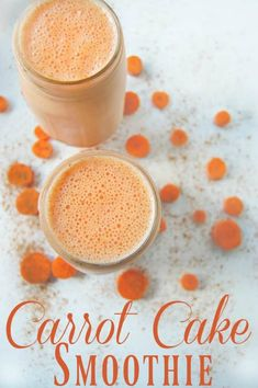 Carrot Cake Smoothie - Smoothies are a great way to get lots of healthy food into your (or your kid's) diet. This carrot cake smoothie is no exception. Don't let the name fool you; this smoothie is all of the good in carrot cake but without all the unhealthy parts. #carrot #carrotcake #smoothie #healthy #dairyfree #refinedsugarfree #veggie