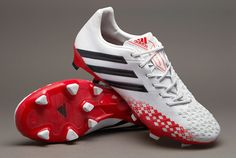 adidas Football Boots - adidas Predator LZ TRX FG - Firm Ground - Soccer Cleats - Running White-Black-Hi-Res Red