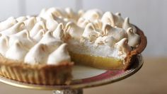 A classic combination of sharp lemon filling and sweet pillowy meringue, this pie is is on our top ten! A classic combination of sharp lemon filling and sweet pillowy meringue, this lemon meringue pie is on our top ten! Lemon Meringue Pie, Lemon Curd, Chefs, Lemon Filling, Mary Berry, Pie Recipes, Recipies, Dessert Recipes, Tray Bakes