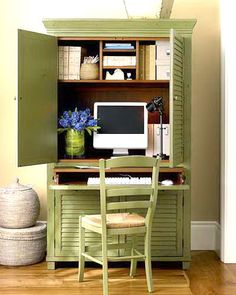 DIY Computer Desk Ideas for Making Your Home Office More Gorgeous - diy woo. - DIY Computer Desk Ideas for Making Your Home Office More Gorgeous – diy wooden computer desk Small Spaces, Home Office Design, Furniture, House, Small Home Office, Home Projects, Office Design, Home Decor, Office Armoire