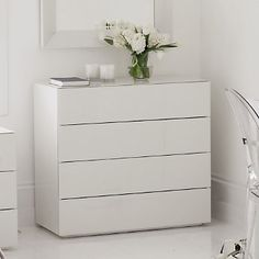 Buy Furniture > Shelves & Storage > Carlton 4-Drawer Chest from The White Company