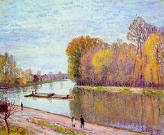 """An April Morn""- Alfred Sisley"