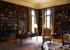 'Wharton's library at The Mount, her estate in Massachusetts.'  JT (always in my own words)---The novelist wrote the definitive work on interior design and used her own home as a laboratory.