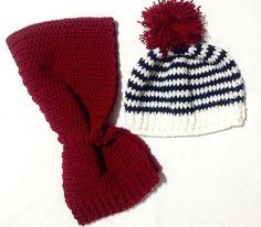 Completo sciarpa più cappellino per neonato dai 6 ai 9 mesi. Realizzato a uncinetto. 100% lana. Lunghezza sciarpa: 60 cm. Circonferenza testa: 44 cm.