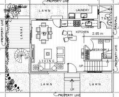 Modern 15 - House Designer and Builder Duplex Plans, Construction Contract, 2 Storey House, Duplex House Design, Ground Floor Plan, Deck Plans, Roof Deck, House Architecture, Plan Design