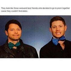 Misha and Jensen as prom dates haha! Jensen Ackles, Jensen And Misha, Misha Collins, Dean Winchester, Supernatural Destiel, Super Natural, Johnlock, Superwholock, Sherlock