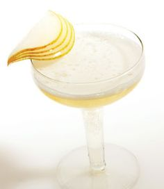 Blissful bubbles... Cause why can't every night be New Years?    Champagne Pear  1/2 oz. pear brandy  4–5 oz. sparkling wine  Glass: flute or coupe  Garnish: pear fan    Pour brandy into a chilled coupe of flute and top with sparkling wine.