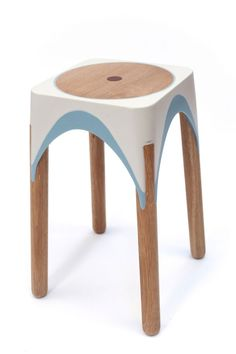 #stool | Matter-Of-Motion-Maor-aharon-7-inserts-made-of-oak
