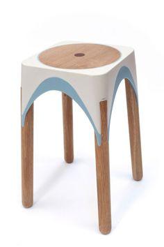 #stool | Matter-Of-Motion-Maor-aharon-7-inserts-made-of-oak