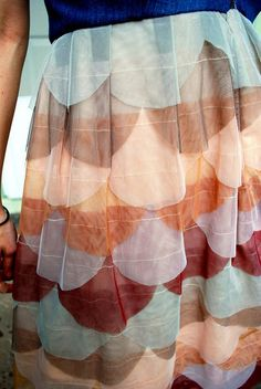 DIY scallop skirt. looks like a really unique fashion statement!