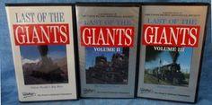 LAST OF THE GIANTS Railroad Videotapes Vol 1, Vol 2, Vol 3, Pentrex 1992  B4