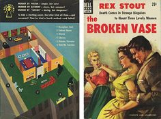 "Rex Stout ""The Broken Vase"" Dell Mapback #674; 1953 Christmas 12/25/14"