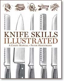 Knife Skills Illustrated by Peter Hertzman. Whether you're a four-star chef or an at-home beginner, Knife Skills Illustrated will show you how with step-by-step drawings and instructions. Once you acquire these skills, cutting becomes a part of the pleasure of cooking. What's more, the flavors and texture of your finished dishes will be enhanced. This comprehensive guide fills a gaping void in the literature of cooking. Over 750 step-by-step illustrations for right- and left-handed cooks—all illustrated from the point of view of the person using the knife. Features both basic and advanced techniques from julienning ginger to shaving fennel to boning a trout to carving a turkey for both right- and left-handed cooks.