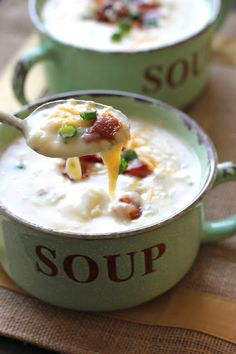 Potato Soup - Easy & delicious! Perfect for those chilly nights. bakedinaz.com